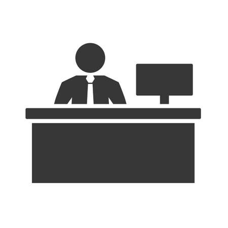Workspace pictogram isolated on white