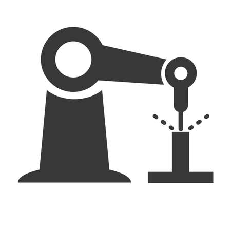 automation and robotic icon symbol - Pictogram isolated on white background. Vector illustration concept