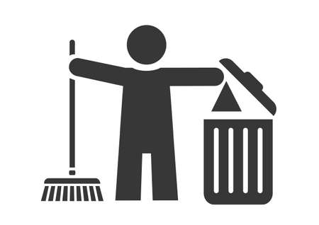 clean up graphic icon. Spring cleaning Vector illustration concept on white background