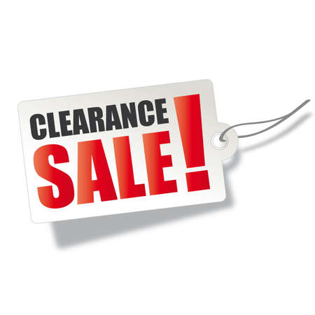 Clearance sale banner isolated on white background - vector illustration concept