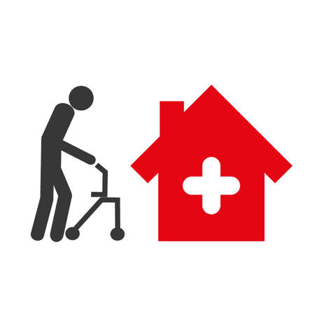 Elderly care icon concept.