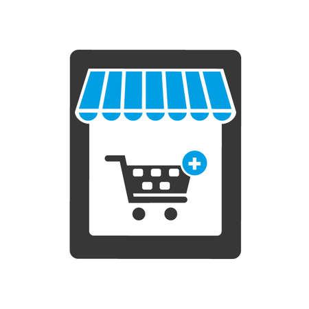 Online Shopping Online on Website or Mobile Application Vector Concept