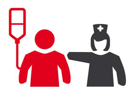 Intensive care unit - pictogram, symbol and graphic Stock Illustratie