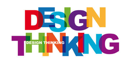 Design Thinking Banner with colorful letters