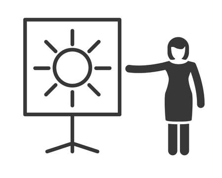 Symbol for weather forecast, meteorologist and weather presentation - Vector icon on white background