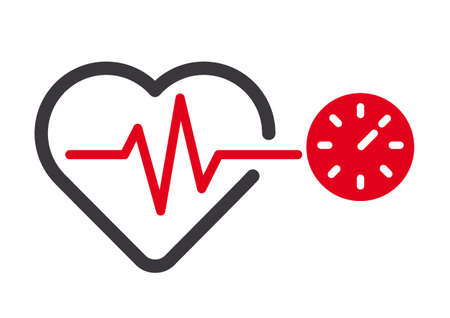 checking blood pressure with blood pressure meter. Icon on white background. Vector illustration concept