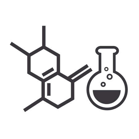 Chemistry and science vector design concept icon on white background Stock Illustratie