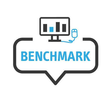 Benchmark vector illustration concept. Idea of business development and improvement