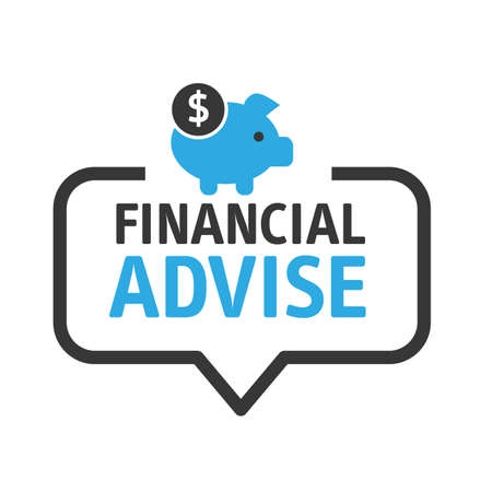 Speech bubble financial advice and consultation