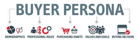 Buyer persona - vector graphic template. Design elements for web and print. Ilustración de vector