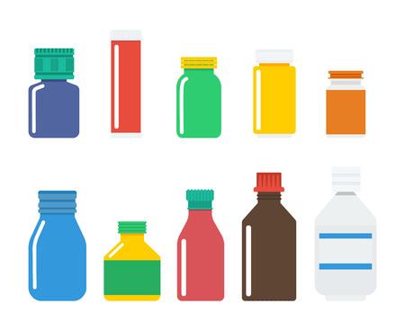 medical bottles: Medical bottles vector illustration, isolated on white background.