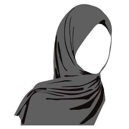 hijab arabic muslim woman, vector illustration Vettoriali