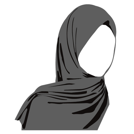 hijab arabic muslim woman, vector illustration Illustration