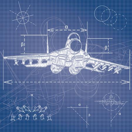 dibujo tecnico: anteproyecto aviones militares