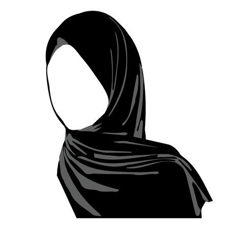 femmes muslim: Hijab portant le logo. vêtements islamiques traditionnels. icône du hijab. logo Vêtements pour femmes orientales. foulard arabe. illustration vectorielle fille hijab.