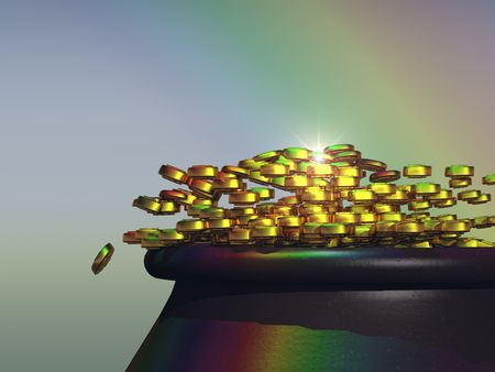 the end of a rainbow: Olla de oro al final del arco iris