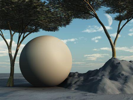 arcadia: Sphere under Arcadia Trees