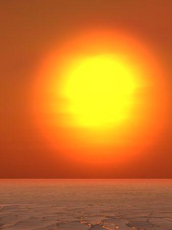 뜨거운 여름 태양