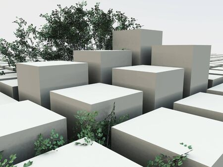 viewpoints: Cube Garden Background Stock Photo