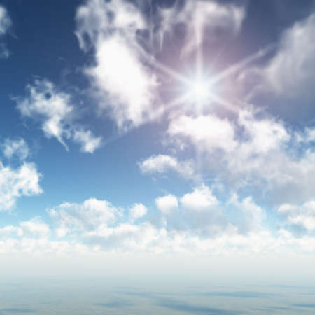 Sun Rays in Heavenly Clouds