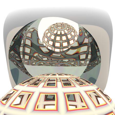 globe grid: Globe Grid Abstract Background Stock Photo