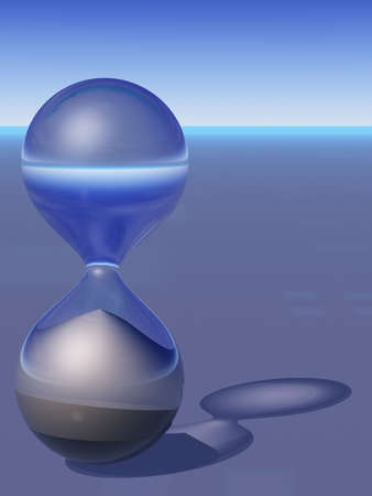 Abstract 3D Hourglass Imagens