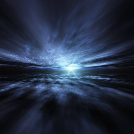 Blue Star Burst Background Reklamní fotografie