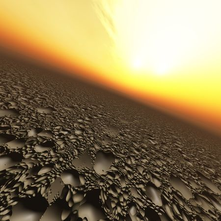 pits: A mud like horizon background of a impact pits. Stock Photo