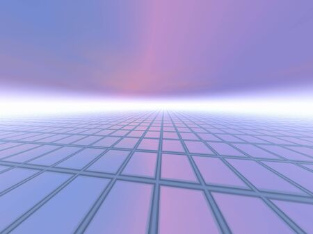 perspective grid: A grid horizon background with linear point perspective.