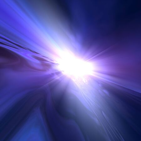 An abstract background of a surreal super star flash from an outer space horizon. Stock Photo - 6125773