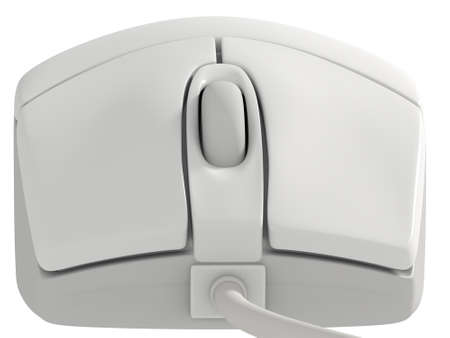 input device: A digital illustration of an isolated computer mouse close up.