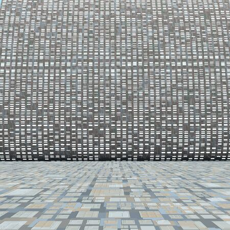 Technology wall and grid floor. Imagens
