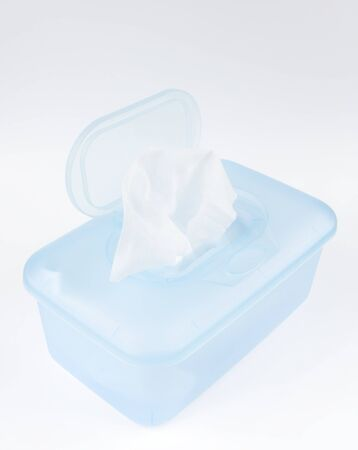 wet wipes for baby hygiene photo