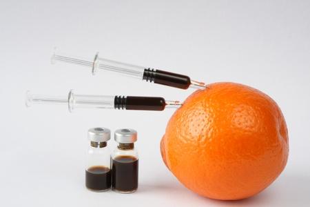 orange skin photo