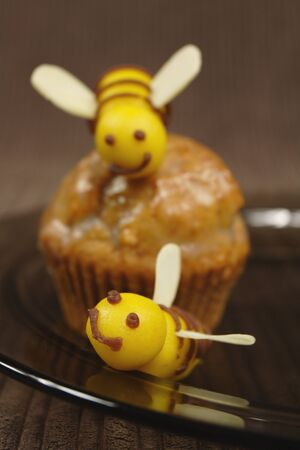 sweet marzipan bees photo