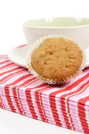 muffin and cup on pink napkins Stock Photo - 13156611
