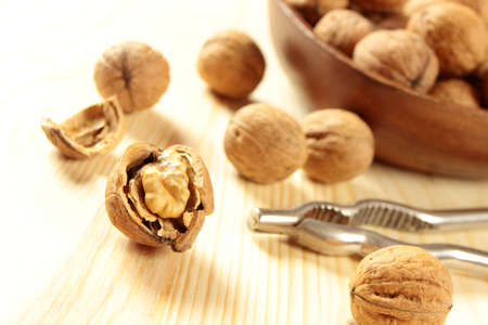 craked: craked walnut Stock Photo