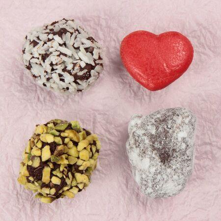 ganache: selection of ganache candies Stock Photo