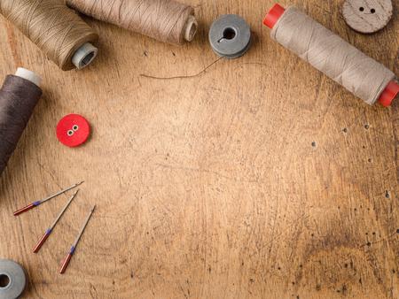 Vintage sewing background
