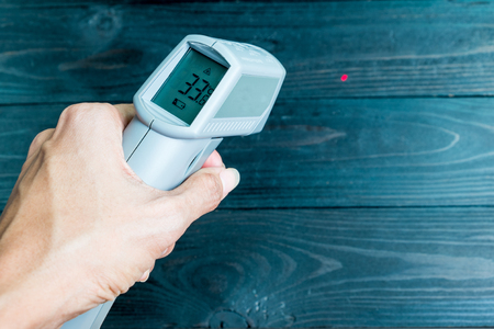 ir: non-contact IR thermometer for check the temperature of wooden floor