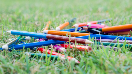 create idea: color pencils for create idea