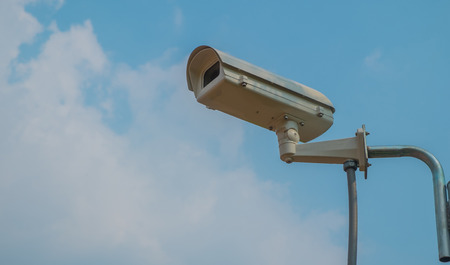close circuit camera: CCTV cameras installed in the park for record events