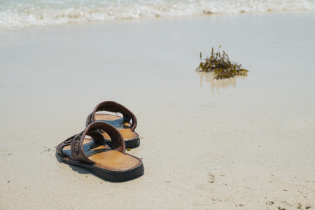 lonesome: The memory, Abstract of memory , Abstract of leaving, Shoes on the beach