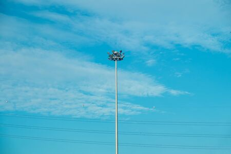 lamp post: Streetlight, Streetlamp, Lamp post on blue sky Stock Photo