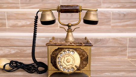 telefono antico: Antique telephone, Home telephone, Vintage telephone, abstract of communication Archivio Fotografico