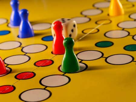 LUDO board game with dice Stock Photo