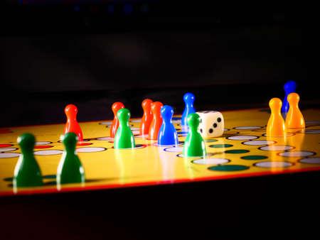 LUDO board game with dice