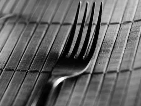 Background of kitchen utensils on wooden kitchen table, selective focus, DOF, macro
