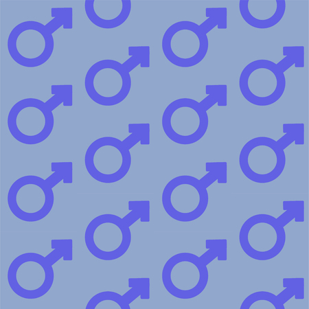 male gender signs. Stock vector seamless pattern Illustration