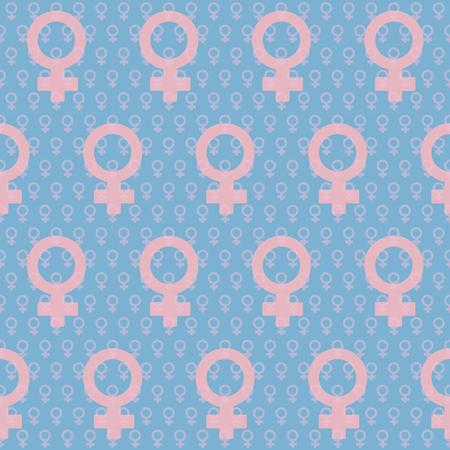 female gender signs. venus. seamless stock vector pattern